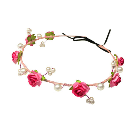 Princess Nyssa Floral Hair Wreath - Crochita