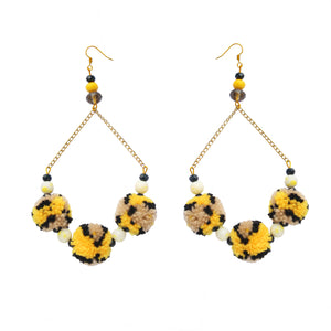 Calypso Pom Pom Earrings