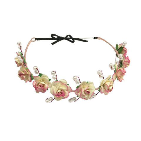 Lara Floral Hair Wreath - Crochita - 1