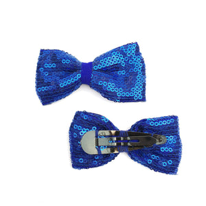 Sailor Blue Bow Hair Clips - Crochita - 2