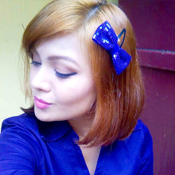 Sailor Blue Bow Hair Clips - Crochita - 3