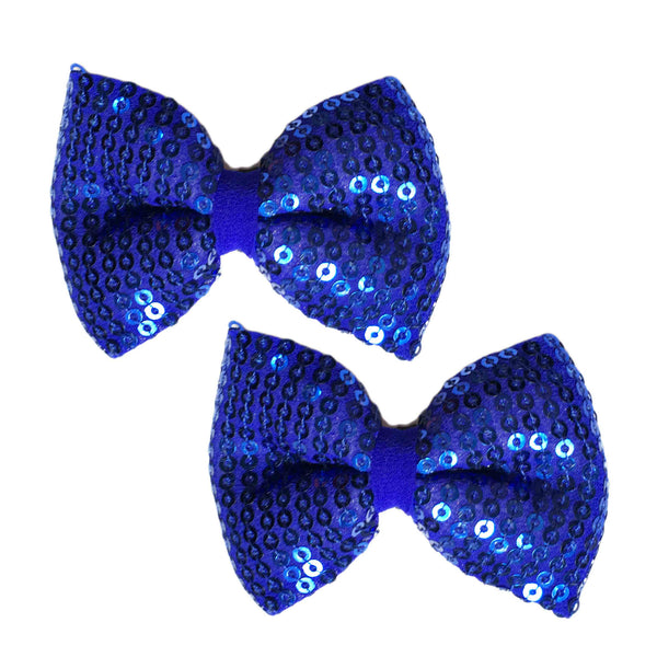 Sailor Blue Bow Hair Clips - Crochita - 1