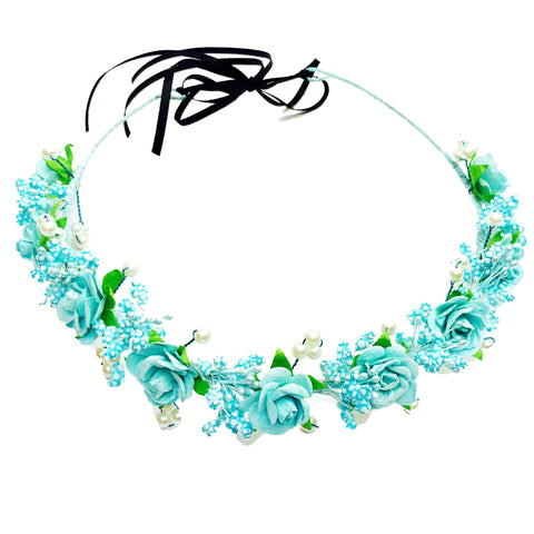 Garden Party Floral Hair Wreath - Crochita - 1