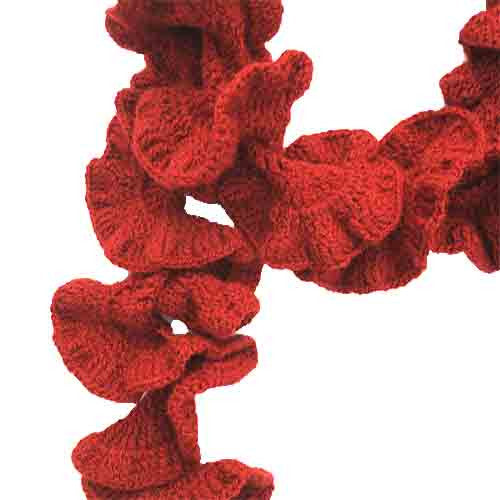 Merida Curly Cue Crochet Handmade Scarf - Crochita - 2