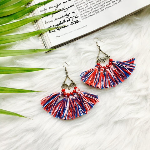 Camelia Tassel Earrings