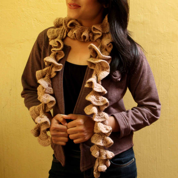 Tabby Curly Cue Crochet Handmade Scarf - Crochita - 3