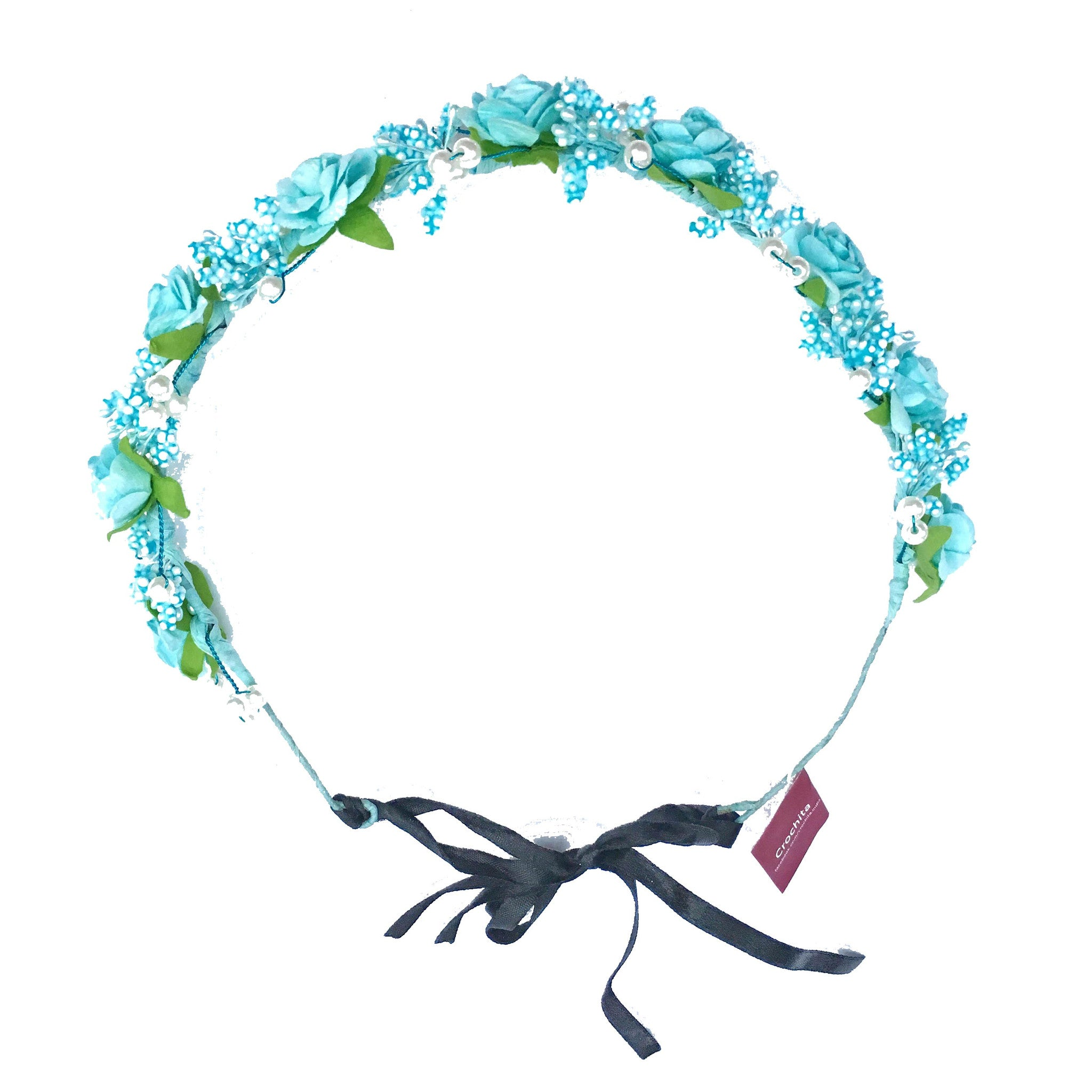 Garden Party Floral Hair Wreath - Crochita - 2