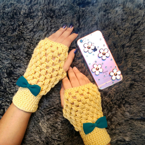 Canalopie All Season Crochet Handmade Fingerless gloves - Crochita - 2
