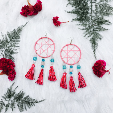 Scorpio Dream Catcher Tassel Earrings