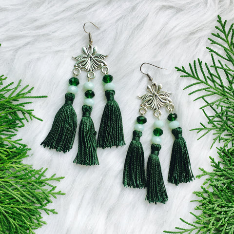 Emerald City Tassel Earring
