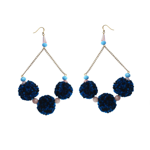 Kraus Pom Pom Earrings