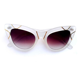 Pure Magic Misty Matte Finished Cat-eye Sunglasses - Crochita - 1