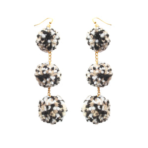 Monochromatic Days Pom Pom Earrings