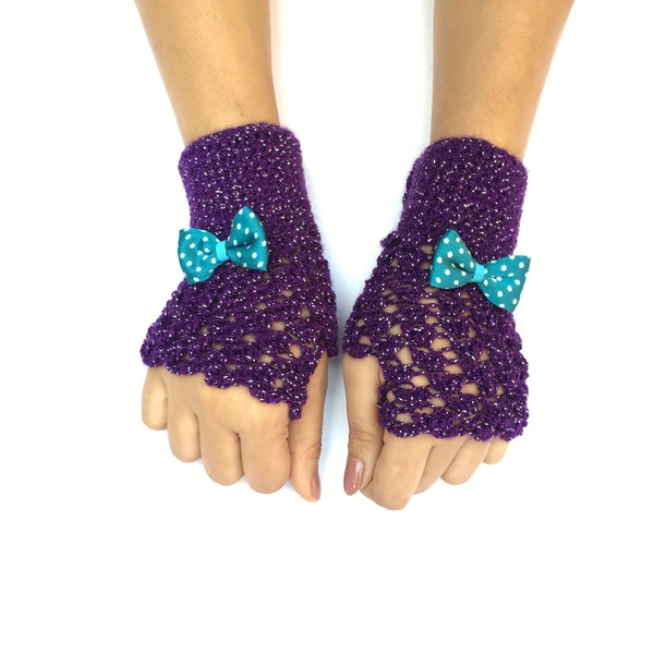 Belle Crochet Handmade Finger-less Gloves - Crochita - 2