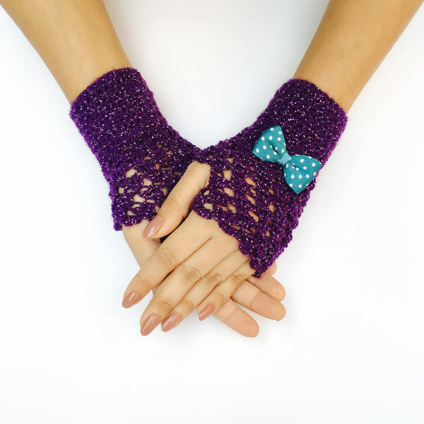 Belle Crochet Handmade Finger-less Gloves - Crochita - 1