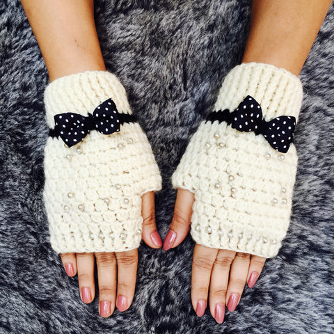 Audrey Crochet Handmade Finger-less Gloves - Crochita - 1