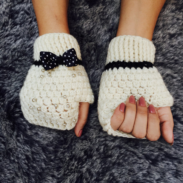 Audrey Crochet Handmade Finger-less Gloves - Crochita - 2