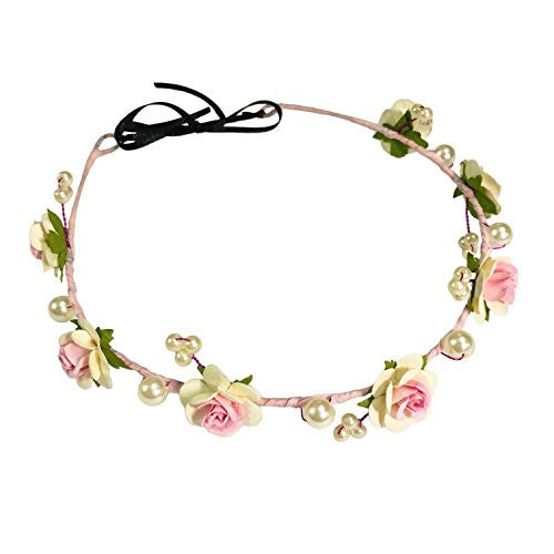 Princess Mia Floral Hair Wreath