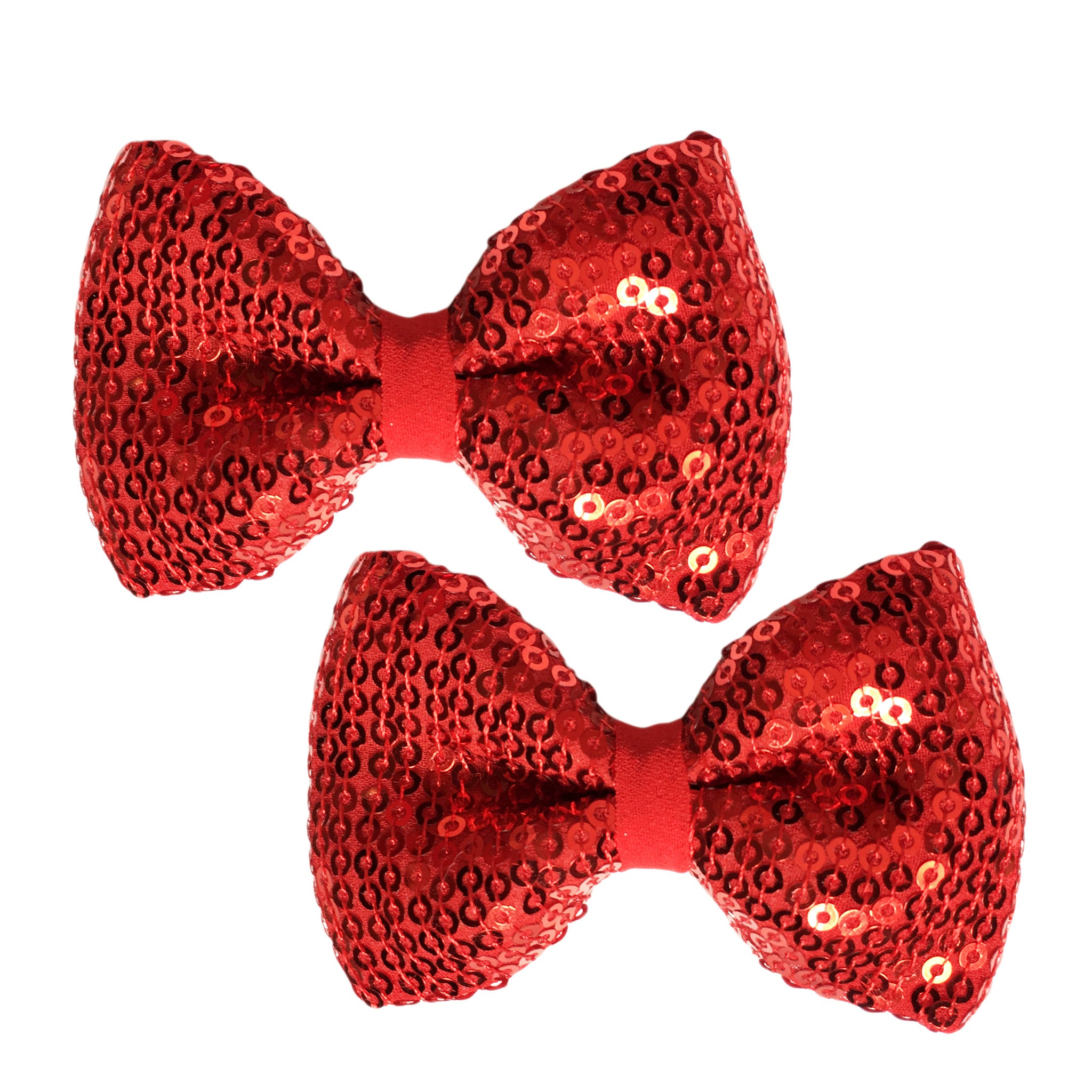 Red Riding Hood Bow Hair Clips - Crochita