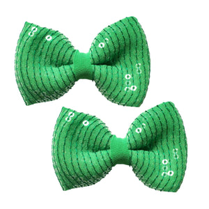 Emerald City Bow Hair Clips - Crochita