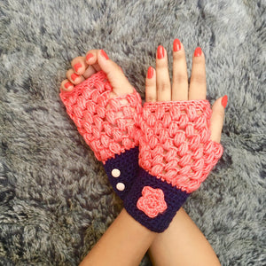 Dalmia Crochet Handmade Finger-less Gloves - Crochita - 1
