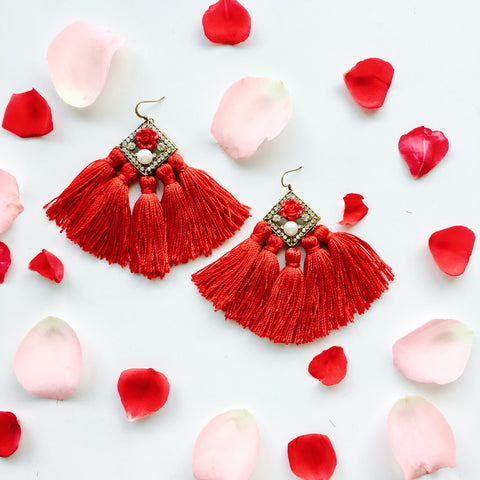 Love is Real Tassel Earring