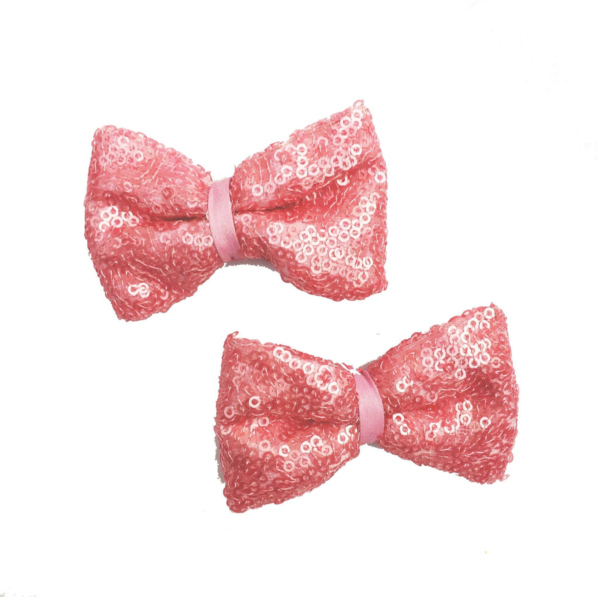 Pink Pop Bow Hair Clips - Crochita