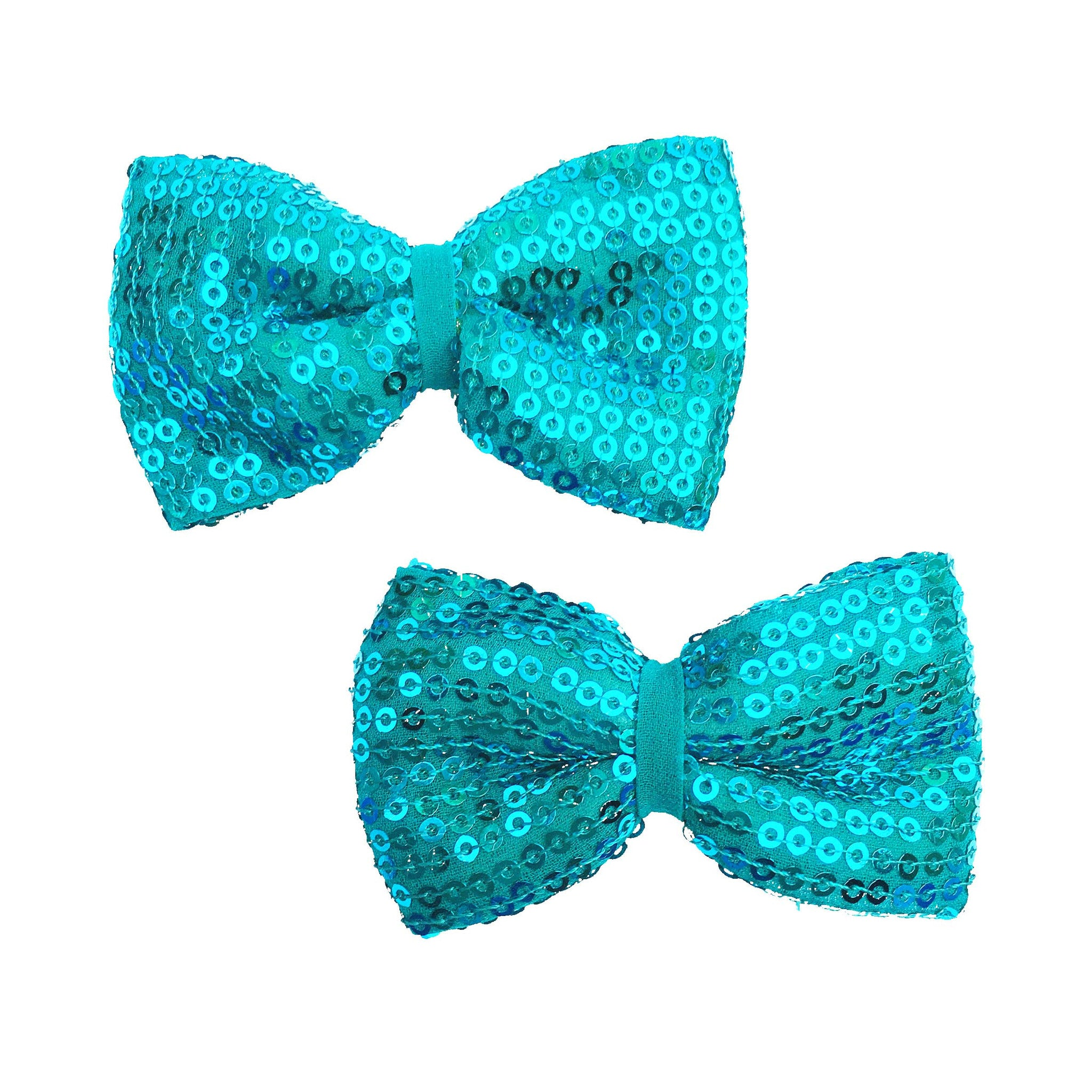 Indigo Bow Hair Clips - Crochita
