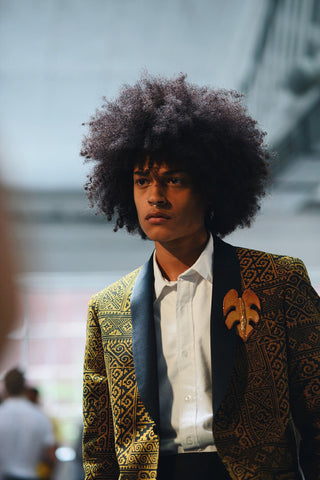 Black men models natural hair New York fashion week