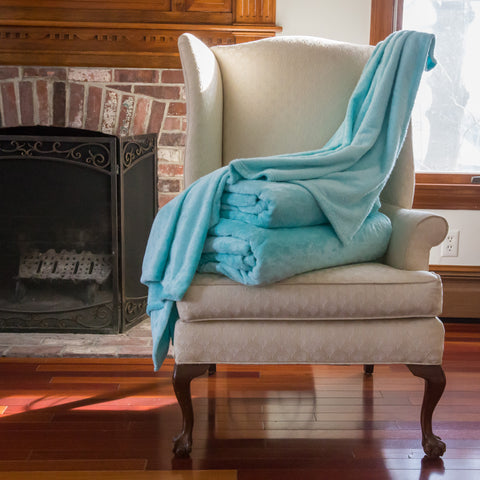 Tourma Blanket Twin Size in Seafoam Green