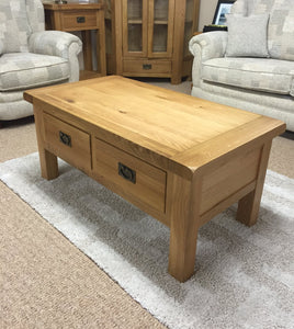 Stamford 2 Drawer Coffee Table