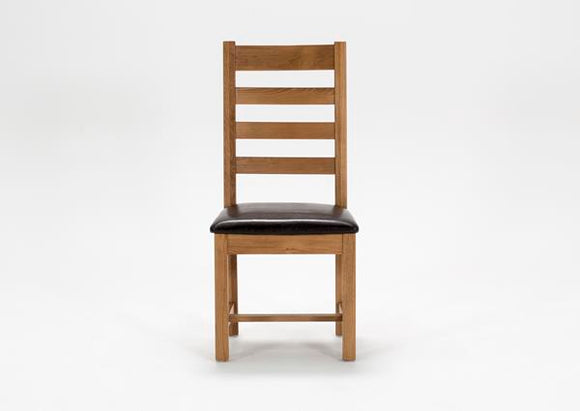 Klara Oak Rail Back chair