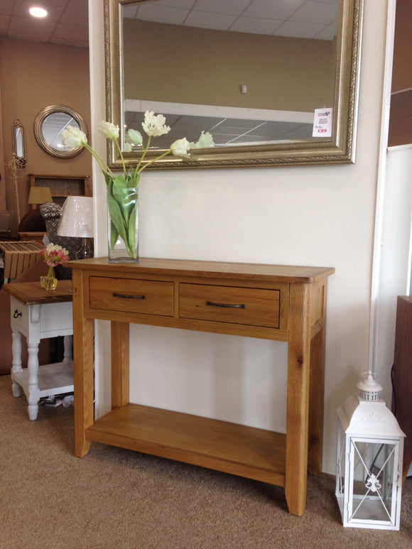 Pavilion Oak  Console Table