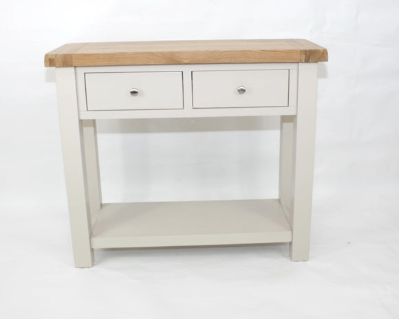 Bailey Oak 2 drawer Console Table