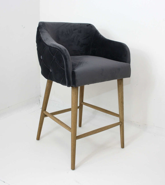 Charlene Grey Bar Stool