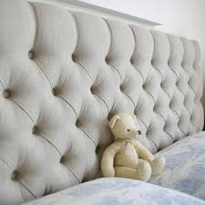 Double Fabric Buttoned Headboard