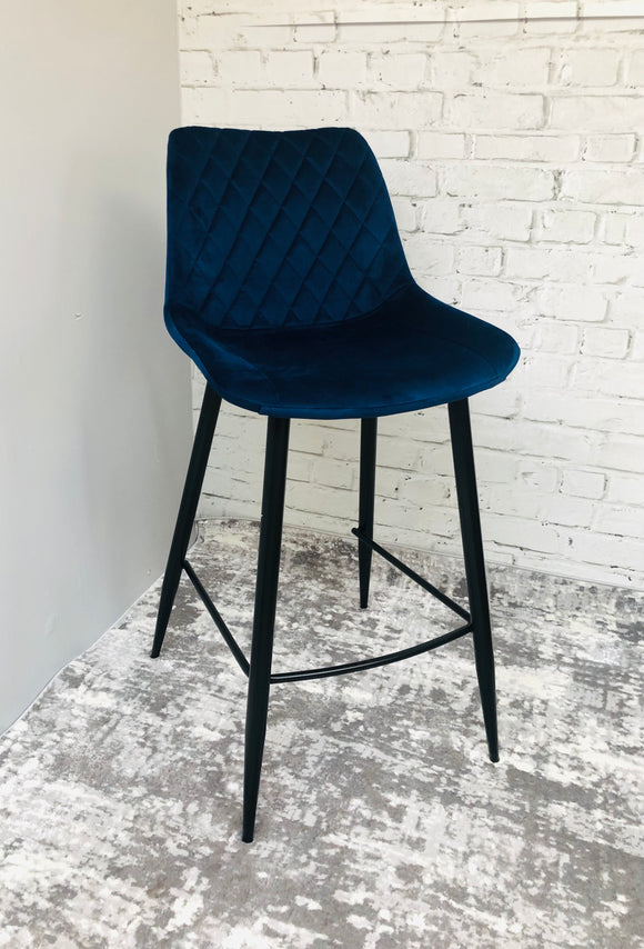 Hanley navy bar stool
