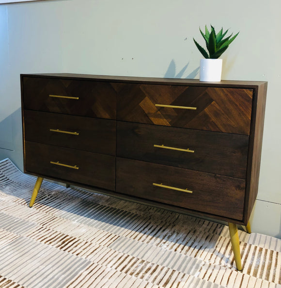 Bergan wide chest of drawers