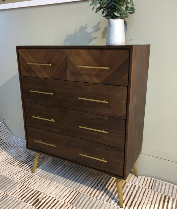 Bergan 3+2 chest of drawers