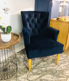 Clover Navy Chair