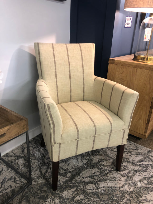 Clara Beige stripe chair
