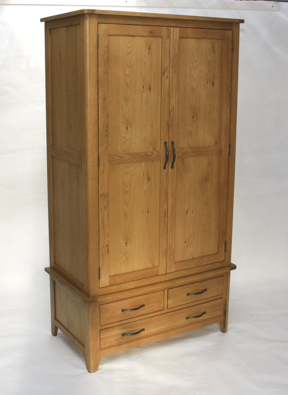 Pavilion oak 2 door 3 Drawer robe