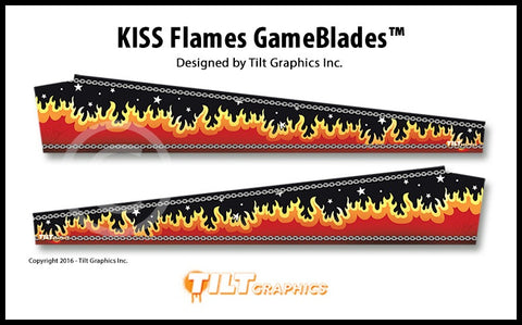 "Kiss Pinball GameBlades™ ""Flames"""