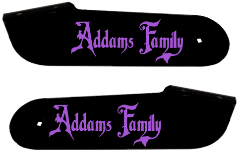 "Addams Family Hinge Decals ""Lavender"""