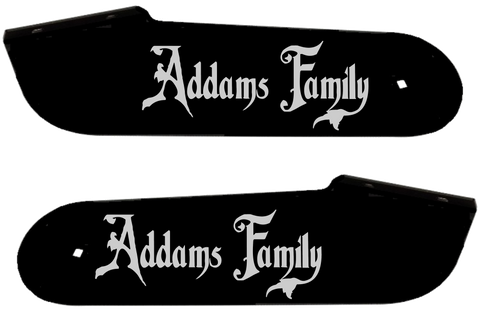 "Addams Family Hinge Decals ""Silver"""