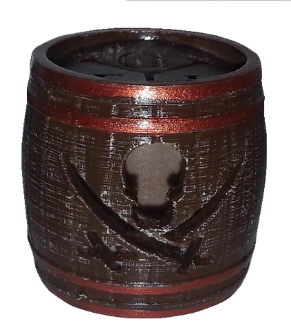 "Pirates of the Caribbean Flasher Dome Cover ""Barrel"""