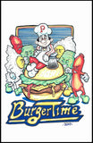 BURGER TIME Framed Gameroom Art