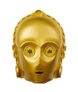 "Star Wars Character Head Shooter ""C-3PO"""