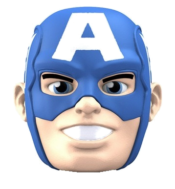 "Avengers Character Head Shooter ""Captain America"""