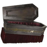 Dracula Custom Painted Coffin
